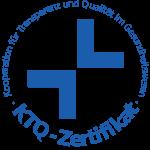 Zertifiziert nach den Regeln der Kooperation für Transparenz und Qualität im Gesundheitswesen GmbH (KTQ-GmbH) mit der Zertifikatsnummer: 2012-0118 RH